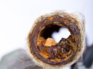 Clogged Drain Pipe Cross Section