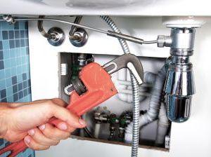plumbing fixture repair under sink