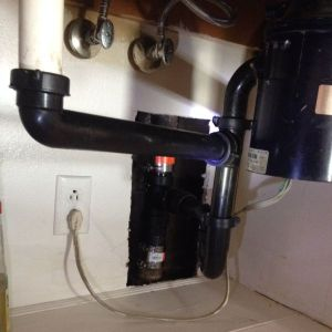 After sink pipe repair in Oak View